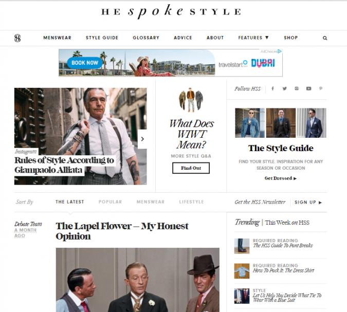 he-spoke-style-fashion-website-675x607 Top 60 Trendy Men Fashion Websites to Follow in 2019