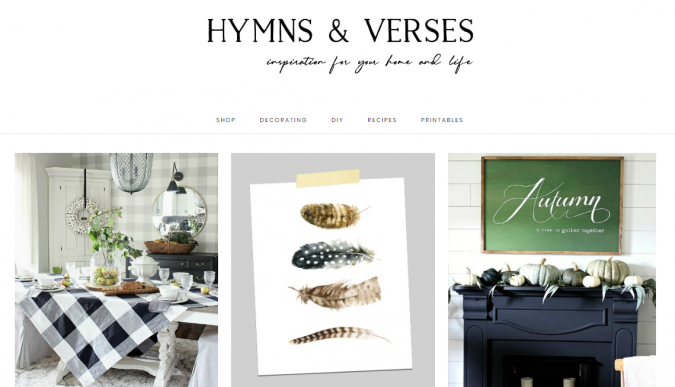 hymns-and-verses-website-screenshot-675x387 Best 50 Home Decor Websites to Follow in 2019