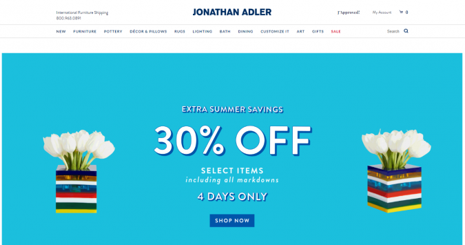 jonathan-adler-website-screenshot-675x355 Best 50 Home Decor Websites to Follow in 2020