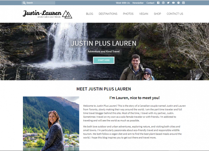 justin-plus-lauren-travel-website-675x488 Best 60 Travel Website Services to Follow in 2019