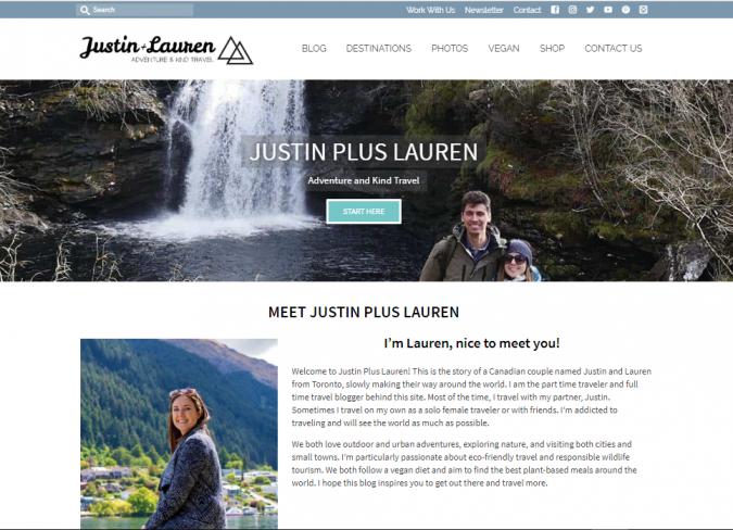 justin-plus-lauren-travel-website-675x488 Best 60 Travel Website Services to Follow in 2020