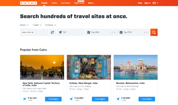 kayak-travel-website-675x398 Best 60 Travel Website Services to Follow in 2020