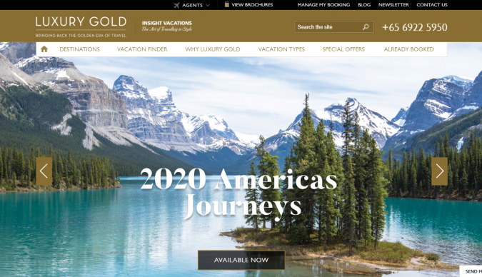 luxury-gold-travel-website-675x388 Best 60 Travel Website Services to Follow in 2019