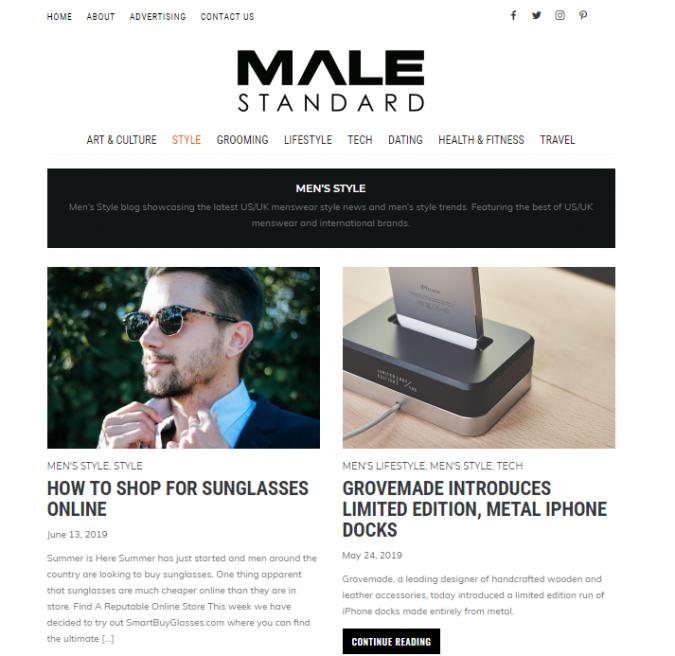male-standard-style-website-675x656 Top 60 Trendy Men Fashion Websites to Follow in 2019