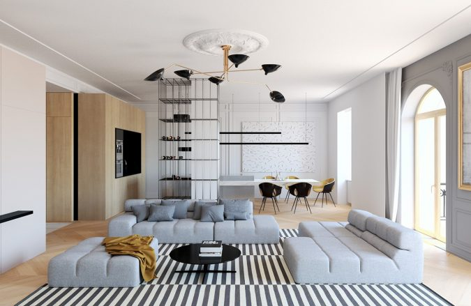 mix-of-modern-and-classic-styles-interior-design-675x439 11 Tips on Mixing Antique and Modern Décor Styles