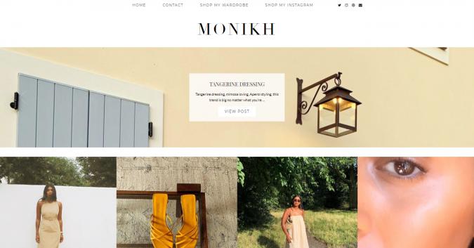 monikh-website-screenshot-675x353 Top 60 Trendy Women Fashion Blogs to Follow in 2021