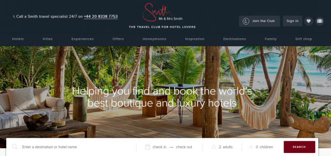 mr-and-mrs-smith-travel-website-675x318 Best 60 Travel Website Services to Follow in 2020