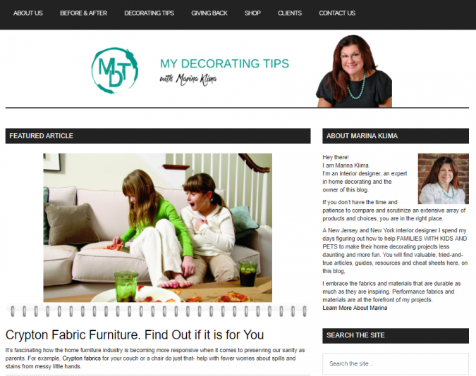 my-decorating-tips-website-screenshot-675x534 Best 50 Home Decor Websites to Follow in 2019