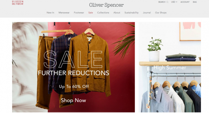oliver-spencer-website-675x367 Top 60 Trendy Men Fashion Websites to Follow in 2019