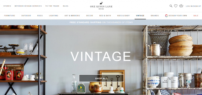 one-kings-lane-website-screenshot-675x318 Best 50 Home Decor Websites to Follow in 2019