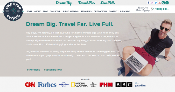 one-step-4ward-travel-website-675x357 Best 60 Travel Website Services to Follow in 2020
