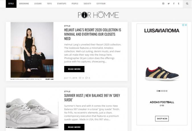 por-homme-style-website-675x459 Top 60 Trendy Men Fashion Websites to Follow in 2020