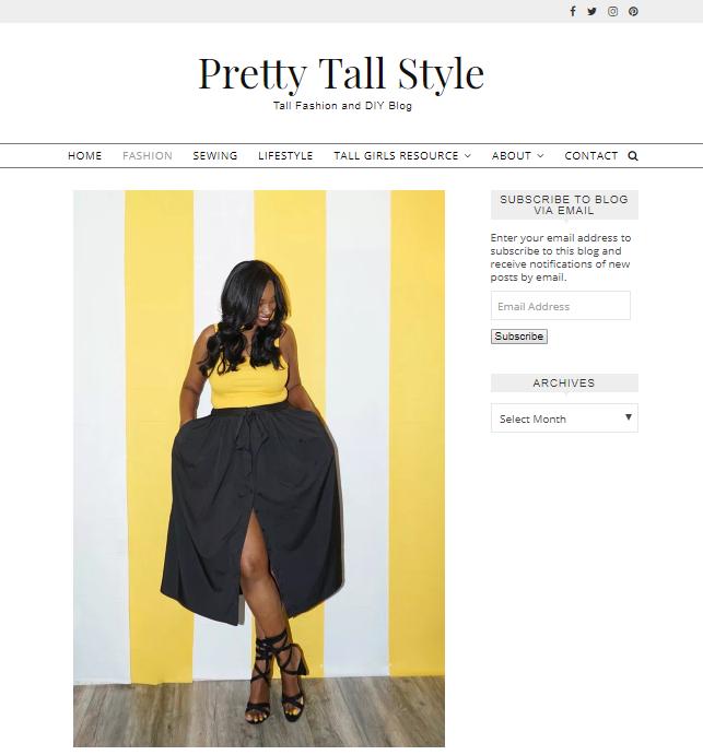 pretty-tall-style-blog-screenshot Top 60 Trendy Women Fashion Blogs to Follow in 2021