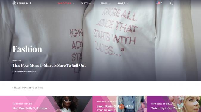refinery-29-website-screenshot-675x376 Top 60 Trendy Women Fashion Blogs to Follow in 2019