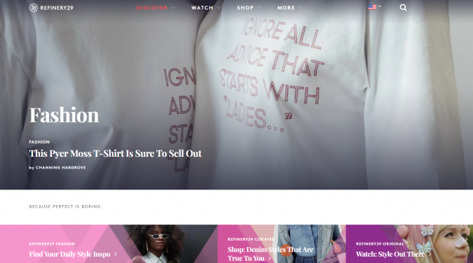 refinery-29-website-screenshot-675x376 Top 60 Trendy Women Fashion Blogs to Follow in 2021