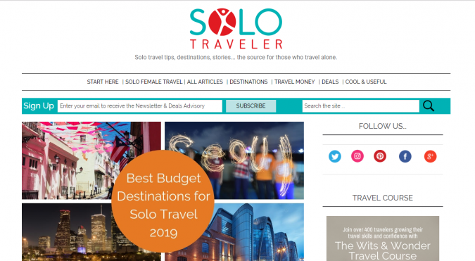 solo-traveler-travel-website-675x371 Best 60 Travel Website Services to Follow in 2019