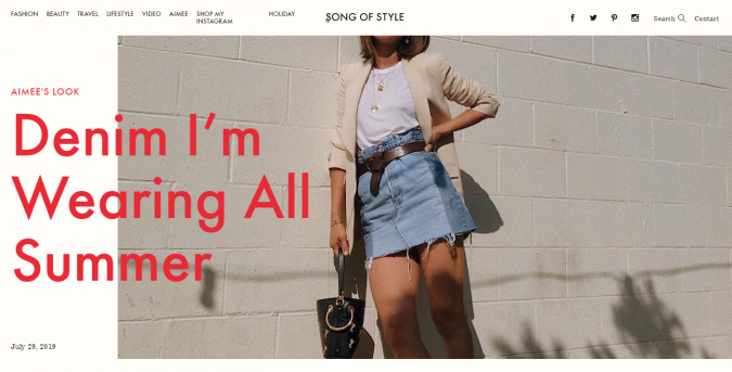 song-of-style-website-screenshot-675x343 Top 60 Trendy Women Fashion Blogs to Follow in 2021