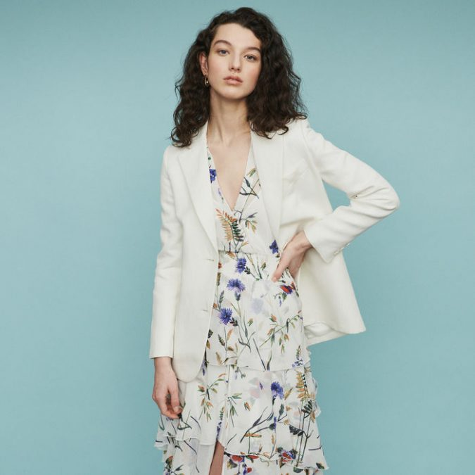 summer-outfit-floral-dress-and-blazer-675x675 10 Wardrobe Essentials Inspired by Summer 2019 Fashion Trends