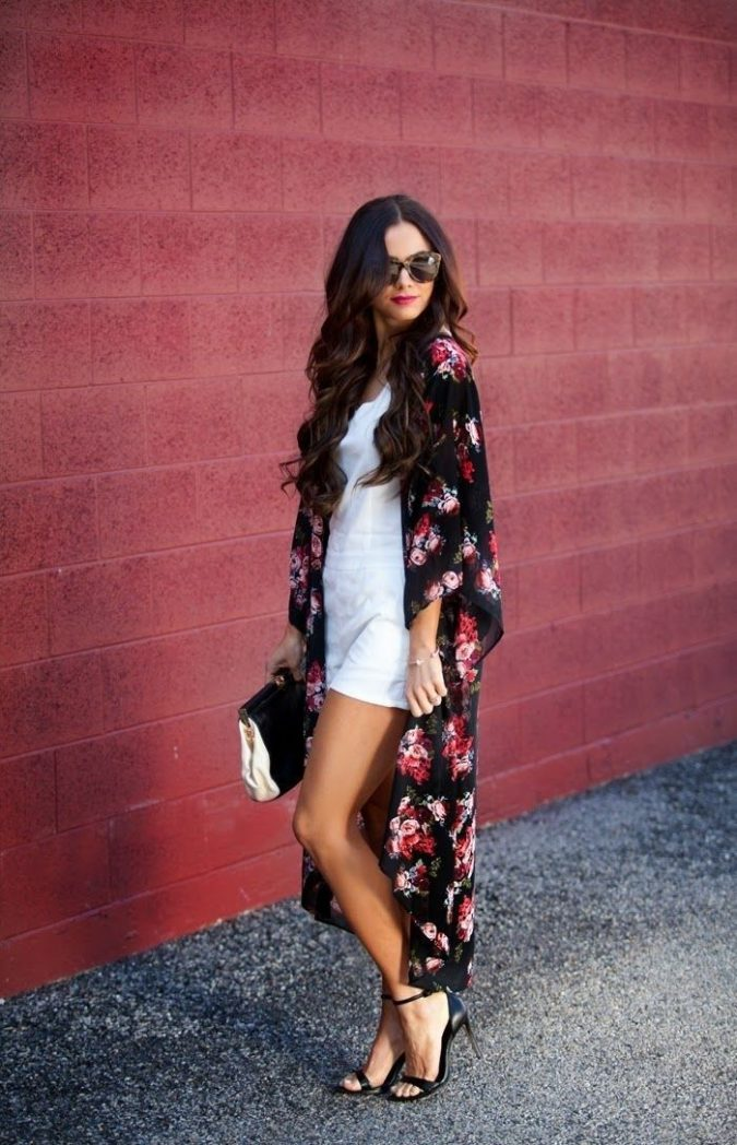 summer-outfit-mini-dress-and-long-kimono-675x1048 10 Wardrobe Essentials Inspired by Summer 2020 Fashion Trends