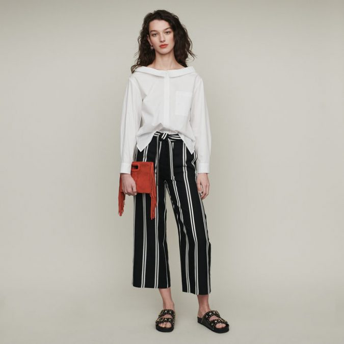 summer-outfit-white-blouse-striped-pants-675x675 10 Wardrobe Essentials Inspired by Summer 2020 Fashion Trends