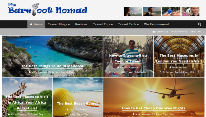 the-barefoot-nomad-travel-website-675x383 Best 60 Travel Website Services to Follow in 2019