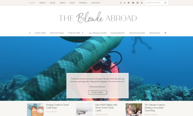 the-blonde-abroad-travel-website-675x407 Best 60 Travel Website Services to Follow in 2019