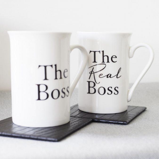 the-boss-matching-mugs-675x675 4 Classic Anniversary Gift Ideas