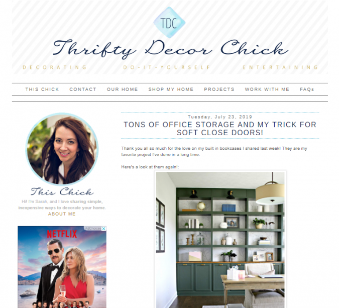 thrifty-decor-chic-website-screenshot-675x613 Best 50 Home Decor Websites to Follow in 2019