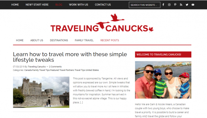 traveling-canucks-travel-website-675x386 Best 60 Travel Website Services to Follow in 2019