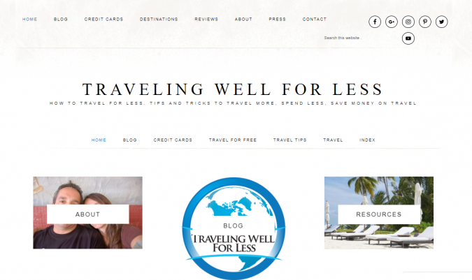 traveling-well-for-less-travel-website-675x401 Best 60 Travel Website Services to Follow in 2020