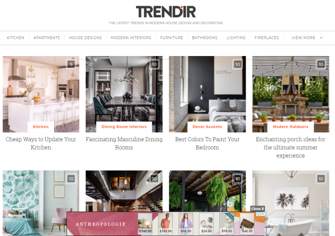 trendir-website-screenshot-675x476 Best 50 Home Decor Websites to Follow in 2020