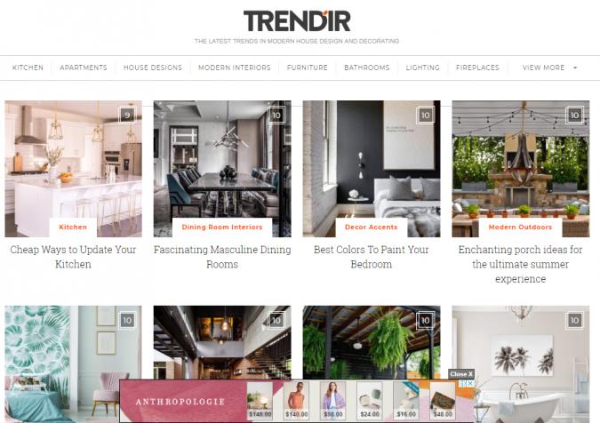 trendir-website-screenshot-675x476 Best 50 Home Decor Websites to Follow in 2020