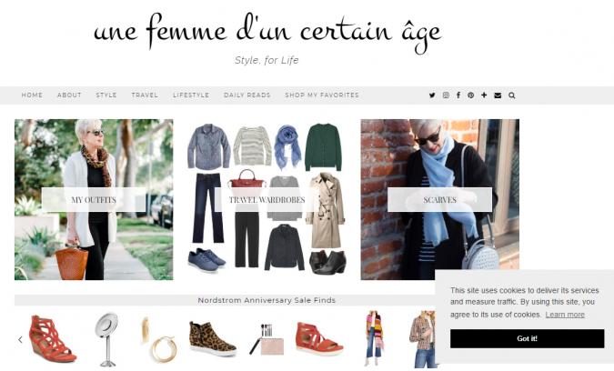 une-femme-dun-certain-age-website-screenshot-675x408 Top 60 Trendy Women Fashion Blogs to Follow in 2019