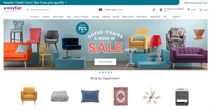 wayfair-website-screeshot-675x352 Best 50 Home Decor Websites to Follow in 2019