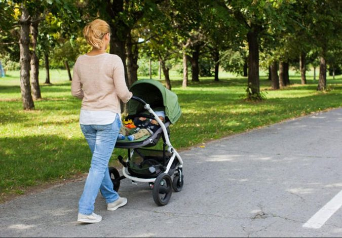 woman-walking-with-baby-in-stroller-e1564479403540-675x470 Weight Loss after a Baby