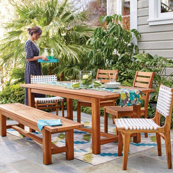 wooden-patio-furniture-675x675 How to Create a Wonderful Patio Area for Summer Entertaining and Relaxation