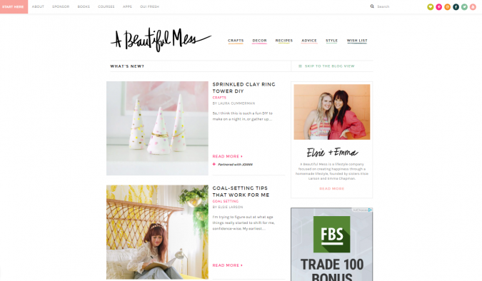 A-Beautiful-Mess-website-screenshot-675x394 Best 50 Lifestyle Blogs and Websites to Follow in 2020