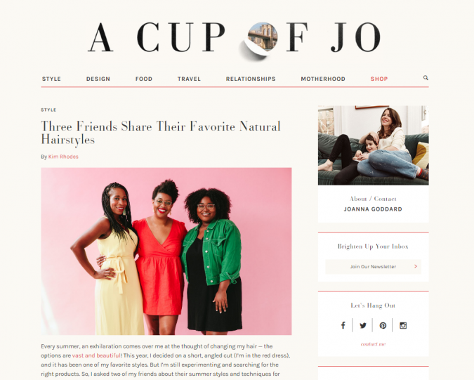 A-cup-of-Joe-website-screenshot-675x541 Best 50 Lifestyle Blogs and Websites to Follow in 2019