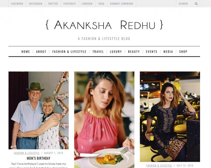 Akanksha-Redhu-website-screenshot-675x536 Best 50 Lifestyle Blogs and Websites to Follow in 2020