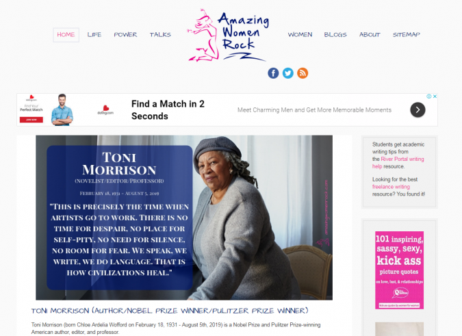 Amazing-Women-Rock-website-screenshot-675x491 Best 50 Lifestyle Blogs and Websites to Follow in 2020