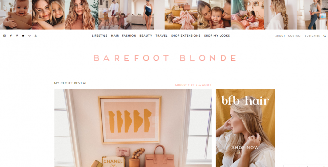 Barefoot-Blonde-website-screenshot-675x345 Best 50 Lifestyle Blogs and Websites to Follow in 2019