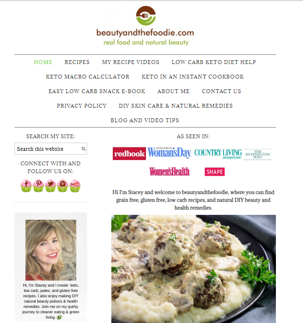 Beauty-and-the-Foodie-blog-screenshot Best 40 Keto Diet Blogs and Websites in 2019