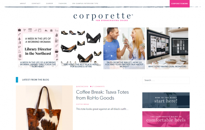 Corporette-website-screenshot-675x427 Best 50 Lifestyle Blogs and Websites to Follow in 2019
