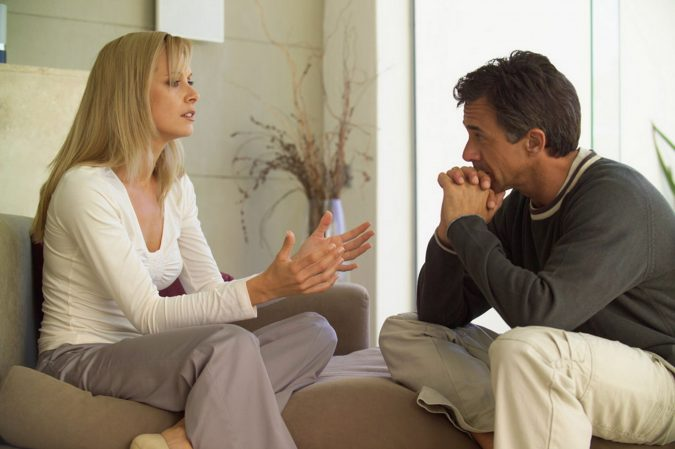 Couple-talking-indoors-675x449 5 Ways to Help a Loved One Suffering from Addiction