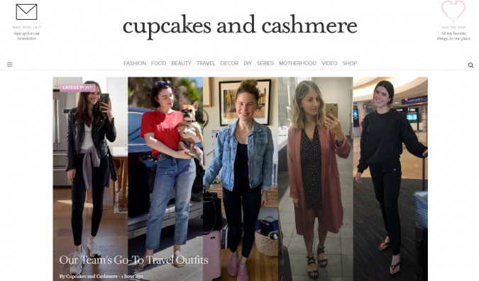 Cupcake-and-Cashmere-website-screenshot-675x396 Best 50 Lifestyle Blogs and Websites to Follow in 2019