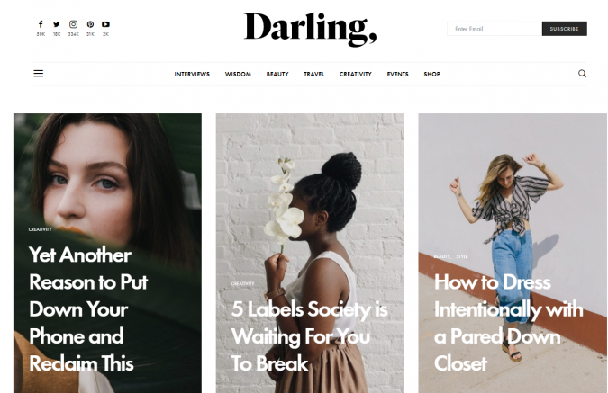 Darling-website-screenshot-675x437 Best 50 Lifestyle Blogs and Websites to Follow in 2020