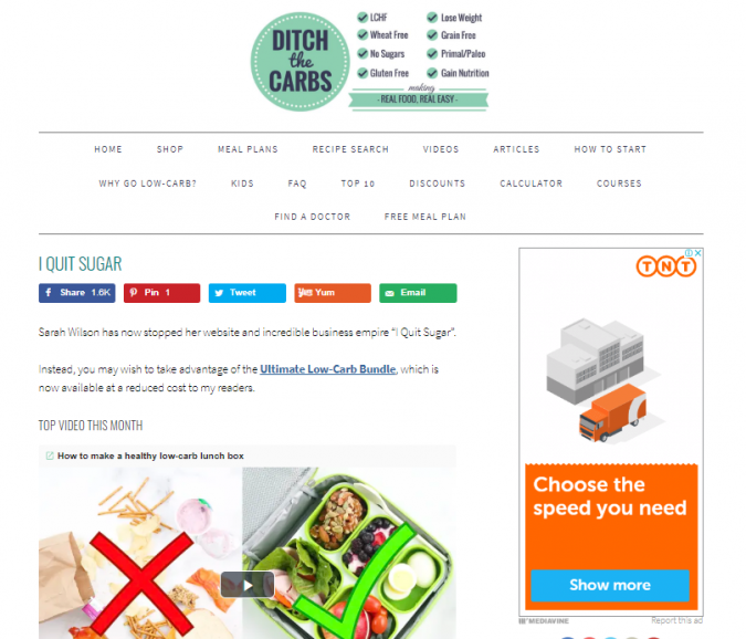 Ditch-the-Carbs-blog-screenshot-675x578 Best 40 Keto Diet Blogs and Websites in 2019