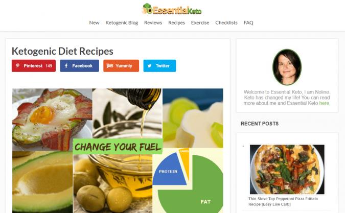 Essential-Keto-blog-screenshot-675x417 Best 40 Keto Diet Blogs and Websites in 2020