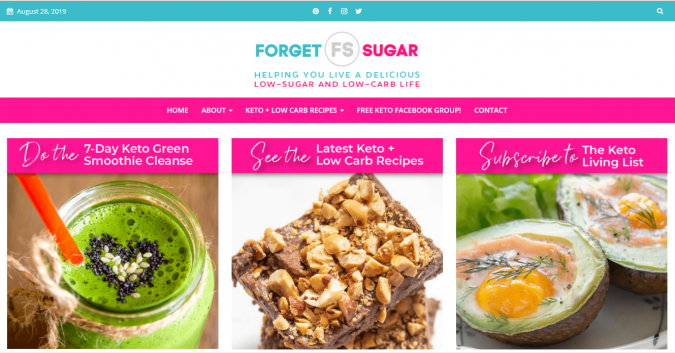 Forget-Sugar-blog-screenshot-675x353 Best 40 Keto Diet Blogs and Websites in 2019