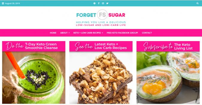 Forget-Sugar-blog-screenshot-675x353 Best 40 Keto Diet Blogs and Websites in 2020